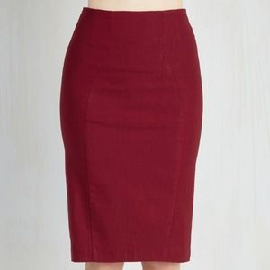 Plus Size Red Pencil Skirt